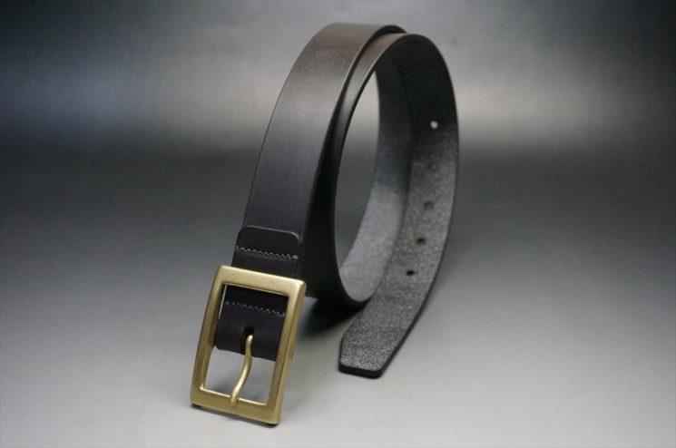 クレイトン社製ブライドルレザーのダークブラウン色のベルト(30mm/cg/sサイズ)-1-1
