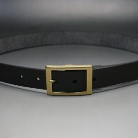クレイトン社製ブライドルレザーのダークブラウン色のベルト(30mm/cg/sサイズ)-1-11