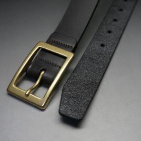 クレイトン社製ブライドルレザーのダークブラウン色のベルト(30mm/cg/sサイズ)-1-2