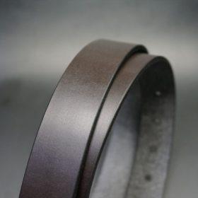 クレイトン社製ブライドルレザーのダークブラウン色のベルト(30mm/cg/sサイズ)-1-3