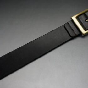クレイトン社製ブライドルレザーのダークブラウン色のベルト(30mm/cg/sサイズ)-1-6