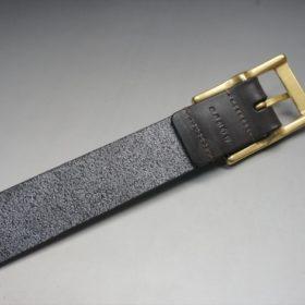 クレイトン社製ブライドルレザーのダークブラウン色のベルト(30mm/cg/sサイズ)-1-7