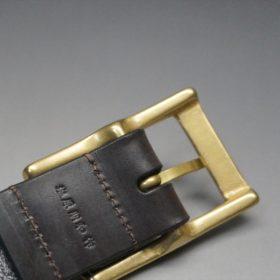 クレイトン社製ブライドルレザーのダークブラウン色のベルト(30mm/cg/sサイズ)-1-8