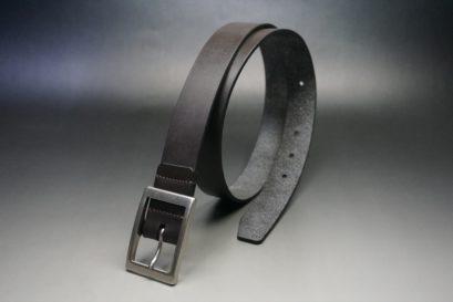 クレイトン社製ブライドルレザーのダークブラウン色のベルト(30mm/cs/mサイズ)-1-1