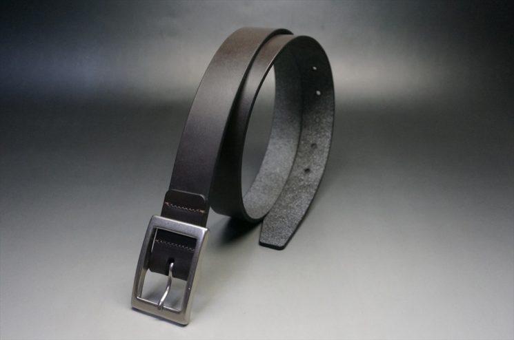クレイトン社製ブライドルレザーのダークブラウン色のベルト(30mm/cs/sサイズ)-1-1