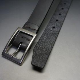 クレイトン社製ブライドルレザーのダークブラウン色のベルト(30mm/cs/sサイズ)-1-2