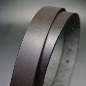 クレイトン社製ブライドルレザーのダークブラウン色のベルト(30mm/cs/sサイズ)-1-3