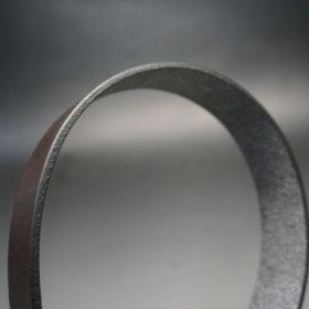 クレイトン社製ブライドルレザーのダークブラウン色のベルト(30mm/cs/sサイズ)-1-4