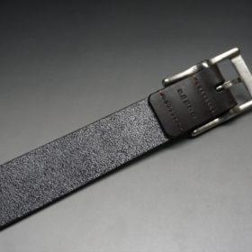 クレイトン社製ブライドルレザーのダークブラウン色のベルト(30mm/cs/sサイズ)-1-7