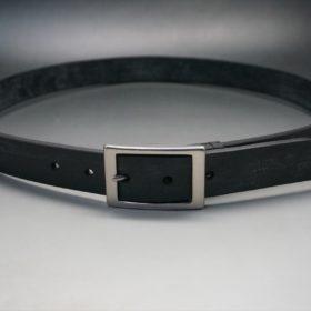 グレードレザー社製ブライドルレザーのブラック色のベルト(30mm/cs/lサイズ)-1-10