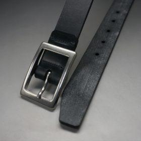 グレードレザー社製ブライドルレザーのブラック色のベルト(30mm/cs/lサイズ)-1-2