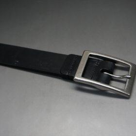 グレードレザー社製ブライドルレザーのブラック色のベルト(30mm/cs/lサイズ)-1-5