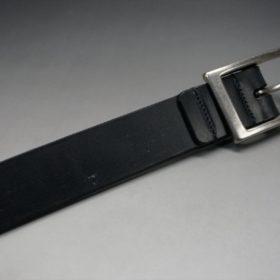 グレードレザー社製ブライドルレザーのブラック色のベルト(30mm/cs/lサイズ)-1-6