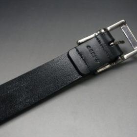 グレードレザー社製ブライドルレザーのブラック色のベルト(30mm/cs/lサイズ)-1-7
