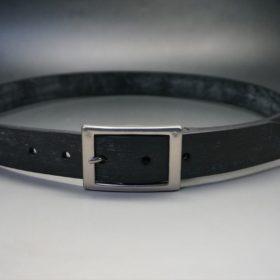 グレードレザー社製ブライドルレザーのブラック色のベルト(30mm/cs/mサイズ)-1-10