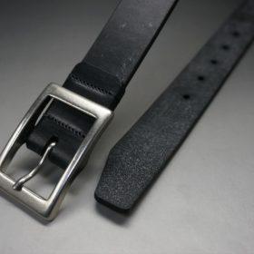グレードレザー社製ブライドルレザーのブラック色のベルト(30mm/cs/mサイズ)-1-2