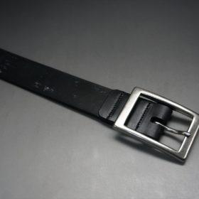 グレードレザー社製ブライドルレザーのブラック色のベルト(30mm/cs/mサイズ)-1-5
