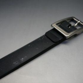 グレードレザー社製ブライドルレザーのブラック色のベルト(30mm/cs/mサイズ)-1-6