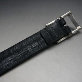 グレードレザー社製ブライドルレザーのブラック色のベルト(30mm/cs/mサイズ)-1-7