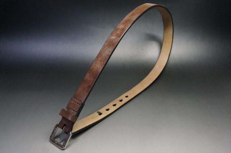 J.ベイカー社製ブライドルレザーのダークブラウン色の30mmベルト(ビジネスB/シルバー色/Mサイズ)-1-1