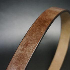 J.ベイカー社製ブライドルレザーのダークブラウン色の30mmベルト(ビジネスB/シルバー色/Mサイズ)-1-3