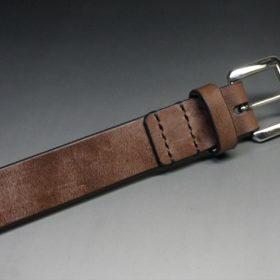 J.ベイカー社製ブライドルレザーのダークブラウン色の30mmベルト(ビジネスB/シルバー色/Mサイズ)-1-6