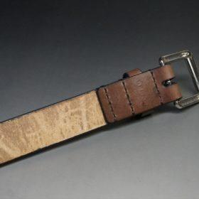 J.ベイカー社製ブライドルレザーのダークブラウン色の30mmベルト(ビジネスB/シルバー色/Mサイズ)-1-7