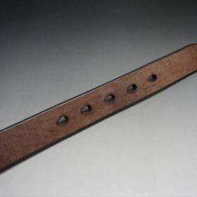 J.ベイカー社製ブライドルレザーのダークブラウン色の30mmベルト(ビジネスB/シルバー色/Mサイズ)-1-9
