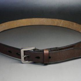 J.ベイカー社製ブライドルレザーのダークブラウン色の30mmベルト(ビジネスB/シルバー色)-ご使用イメージ-1