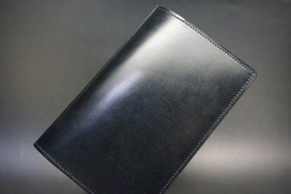 セドウィック社製ブライドルレザーのブラック色のA6判手帳カバー(10mm用)-1-1