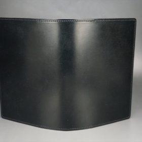 セドウィック社製ブライドルレザーのブラック色のA6判手帳カバー(10mm用)-1-2