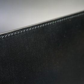 セドウィック社製ブライドルレザーのブラック色のA6判手帳カバー(10mm用)-1-4