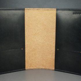 セドウィック社製ブライドルレザーのブラック色のA6判手帳カバー(10mm用)-1-6