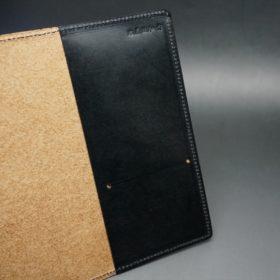 セドウィック社製ブライドルレザーのブラック色のA6判手帳カバー(10mm用)-1-7