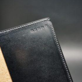 セドウィック社製ブライドルレザーのブラック色のA6判手帳カバー(10mm用)-1-8