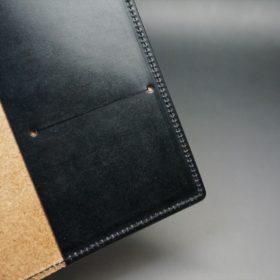 セドウィック社製ブライドルレザーのブラック色のA6判手帳カバー(10mm用)-1-9