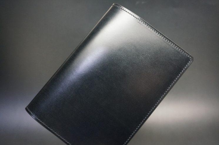 セドウィック社製ブライドルレザーのブラック色のA6判手帳カバー(15mm用)-1-1