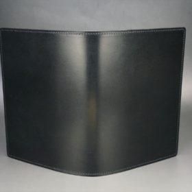 セドウィック社製ブライドルレザーのブラック色のA6判手帳カバー(15mm用)-1-2