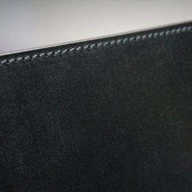 セドウィック社製ブライドルレザーのブラック色のA6判手帳カバー(15mm用)-1-4