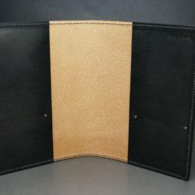 セドウィック社製ブライドルレザーのブラック色のA6判手帳カバー(15mm用)-1-6