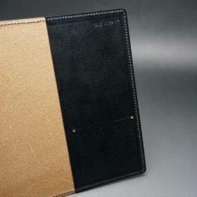 セドウィック社製ブライドルレザーのブラック色のA6判手帳カバー(15mm用)-1-7