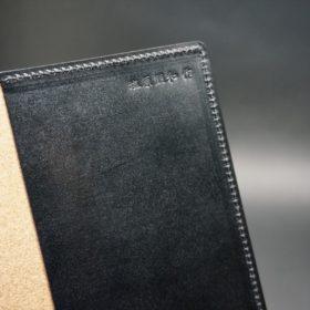 セドウィック社製ブライドルレザーのブラック色のA6判手帳カバー(15mm用)-1-8