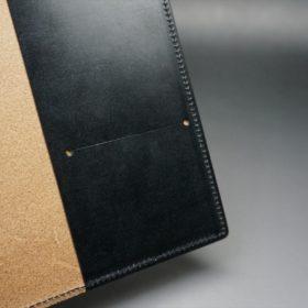 セドウィック社製ブライドルレザーのブラック色のA6判手帳カバー(15mm用)-1-9