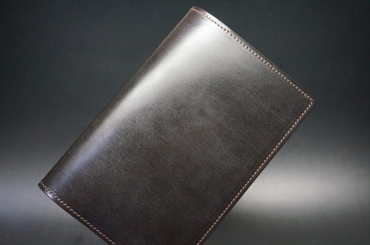 セドウィック社製ブライドルレザーのチョコ色のA6判手帳カバー(10mm用 )-1-1
