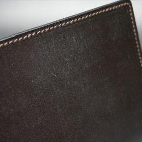 セドウィック社製ブライドルレザーのチョコ色のA6判手帳カバー(10mm用 )-1-4