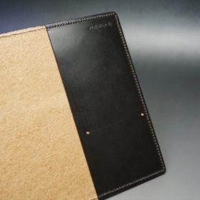 セドウィック社製ブライドルレザーのチョコ色のA6判手帳カバー(10mm用 )-1-7