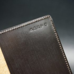 セドウィック社製ブライドルレザーのチョコ色のA6判手帳カバー(10mm用 )-1-8