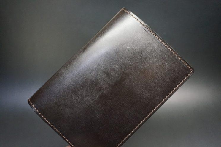 セドウィック社製ブライドルレザーのチョコ色のA6判手帳カバー(15mm用)-1-1