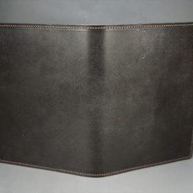 セドウィック社製ブライドルレザーのチョコ色のA6判手帳カバー(15mm用)-1-2