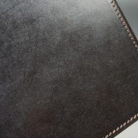 セドウィック社製ブライドルレザーのチョコ色のA6判手帳カバー(15mm用)-1-3